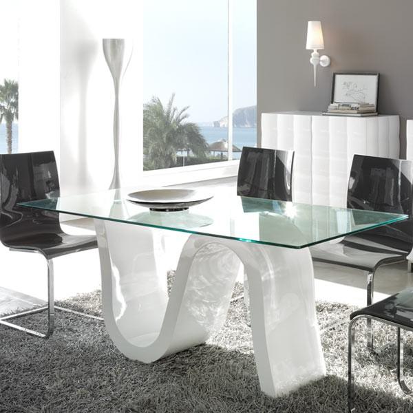 Mesas de comedor de cristal baratas casa dise o for Mesa comedor cristal barata