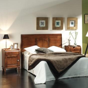 Cama Alba detalle madera de 150x190 cm.