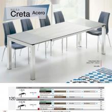 Mesa Creta Acero 120