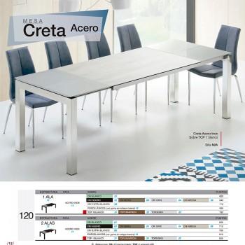 Mesa comedor Creta Acero 120
