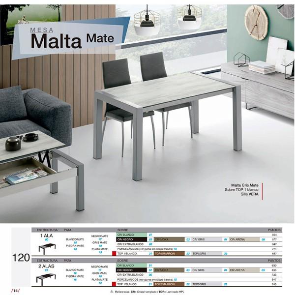 Mesa Comedor 140.Mesa Comedor Malta 120 Mate