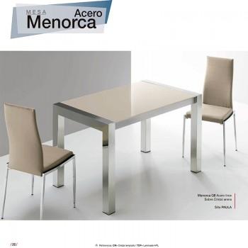 Mesa comedor Menorca 130  Acero
