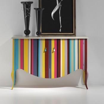 Mueble auxiliar Carlotta 2p. multicolor.