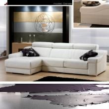 Sofa Daniela blanco 285 cm.