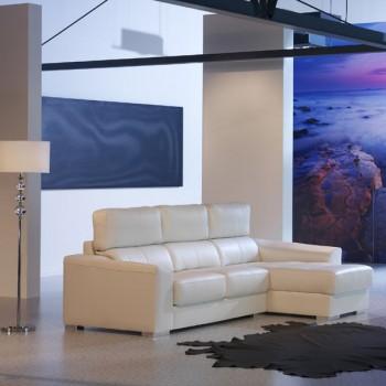 Sofa Lidia blanco 268 cm.