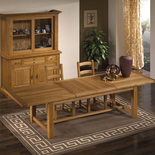 Sillas y mesas rusticas free fabrica de sillas de madera mesas bancos sillas con asiento de - Mesa comedor rustica extensible ...