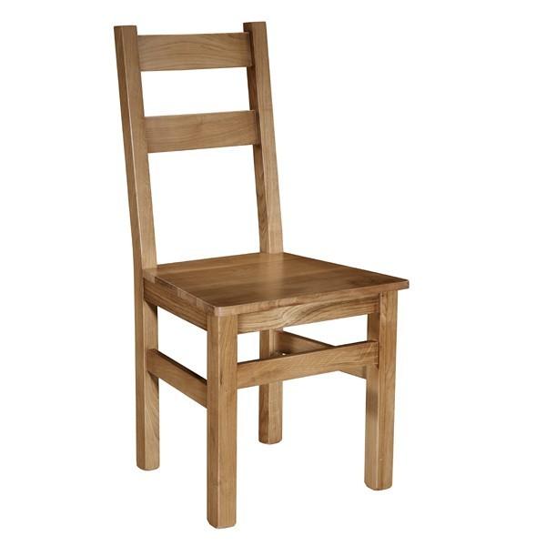 Silla roble quercus asiento madera for Sillas para oficina de madera
