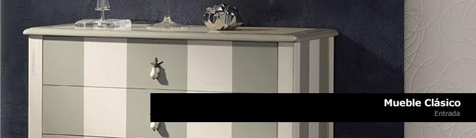 Muebles de entrada clasicos de estilo vintage.   icono interiorismo